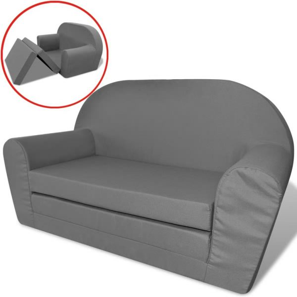 Kids' Flip-Out Lounge Chair Grey 1