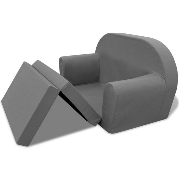 Kids' Flip-Out Lounge Chair Grey 3
