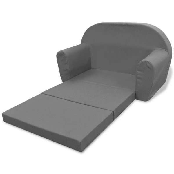 Kids' Flip-Out Lounge Chair Grey 4