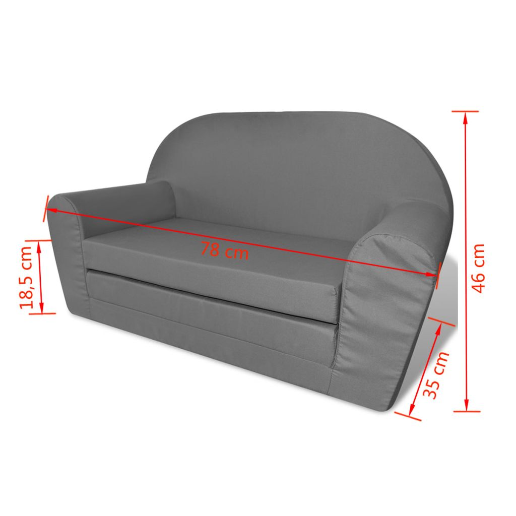 Kids' Flip-Out Lounge Chair Grey 6