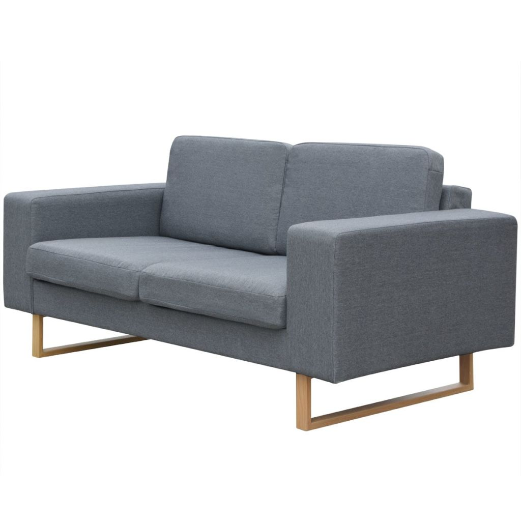 2-Seater and 3-Seater Sofa Set Light Grey 2