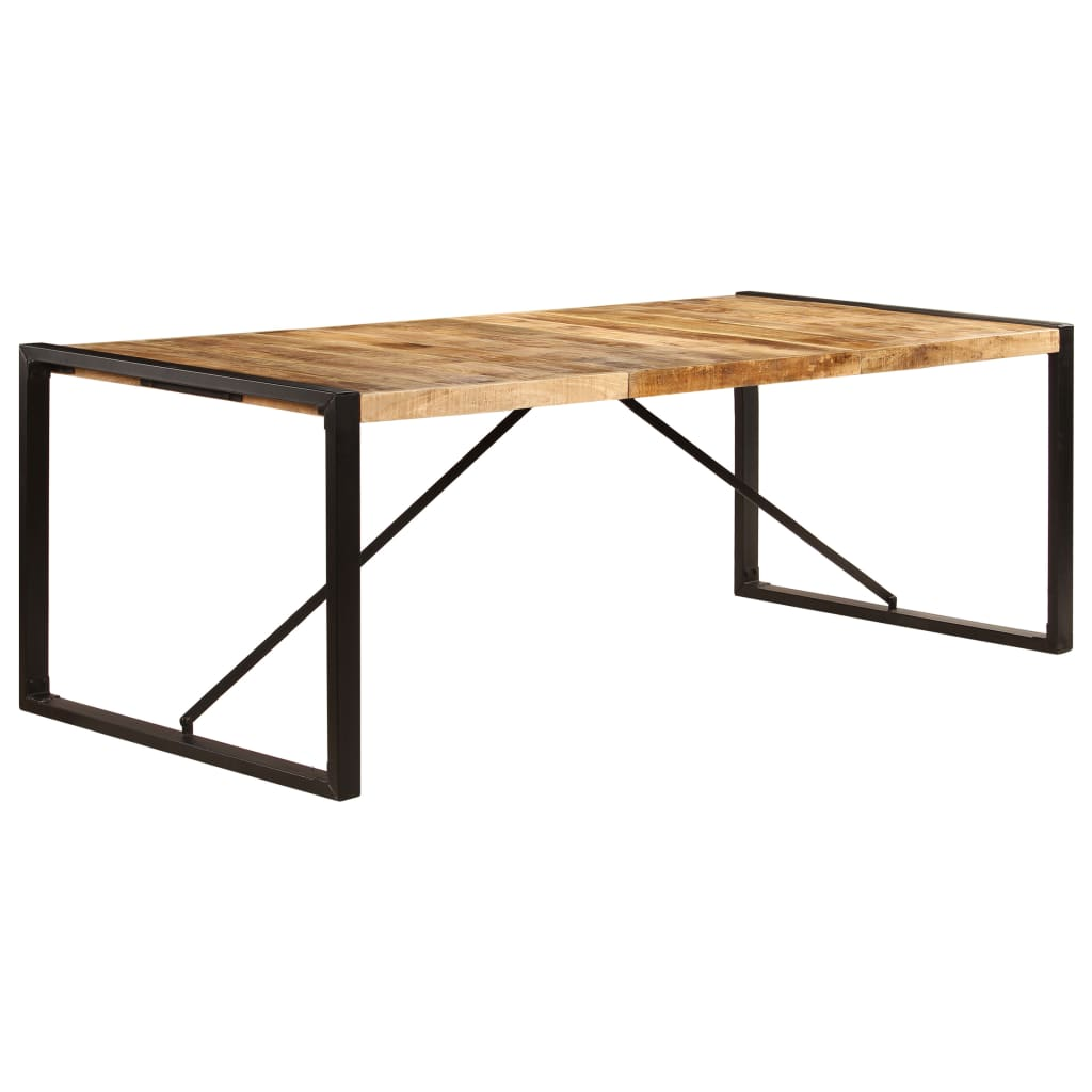 Dining Table 220x100x75 cm Solid Mango Wood 11