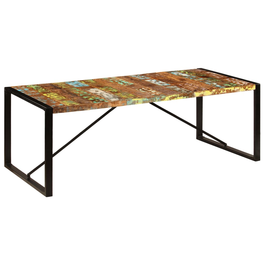 Dining Table 220x100x75 cm Solid Reclaimed Wood