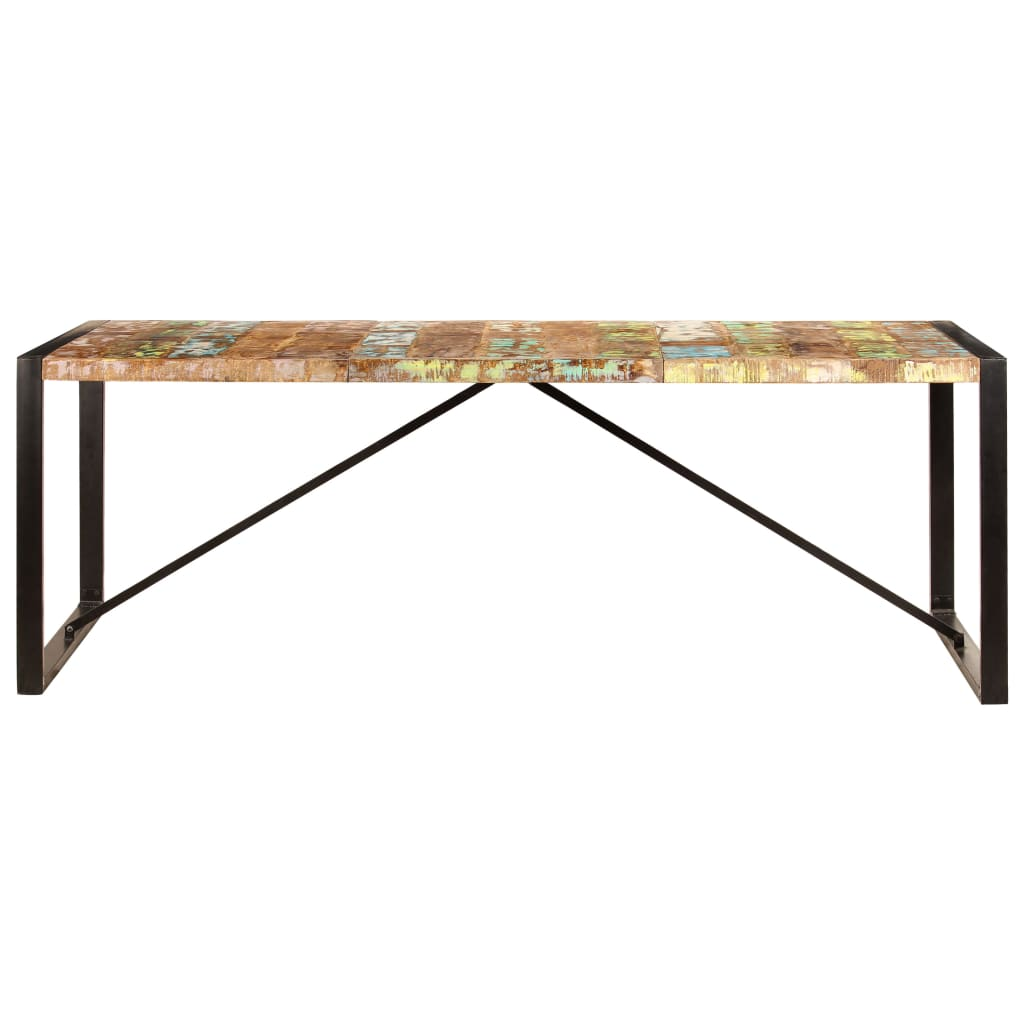 Dining Table 220x100x75 cm Solid Reclaimed Wood 2