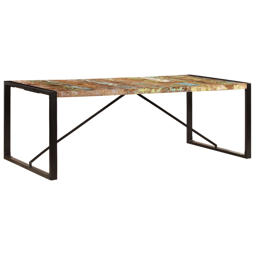 Dining Table 220x100x75 cm Solid Reclaimed Wood 11