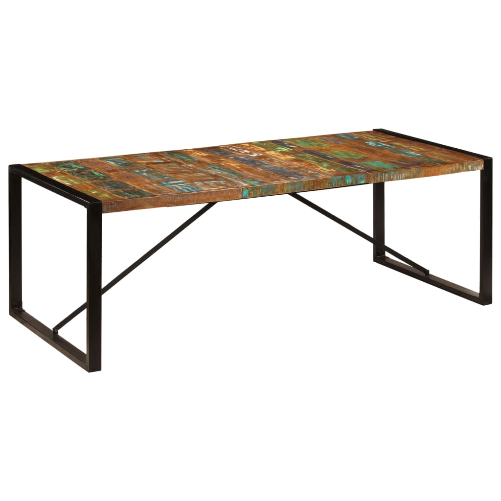 Dining Table 220x100x75 cm Solid Reclaimed Wood 8