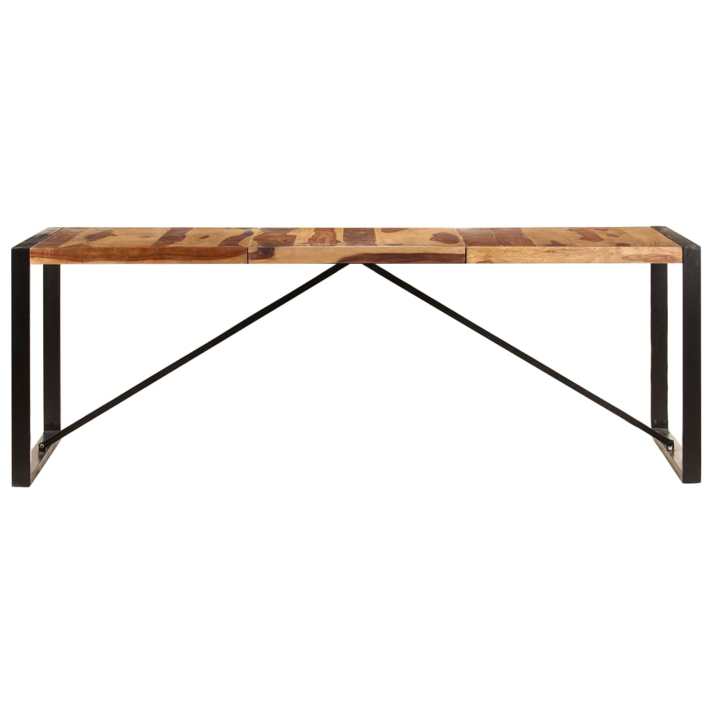 Dining Table 220x100x75 cm Solid Sheesham Wood 2