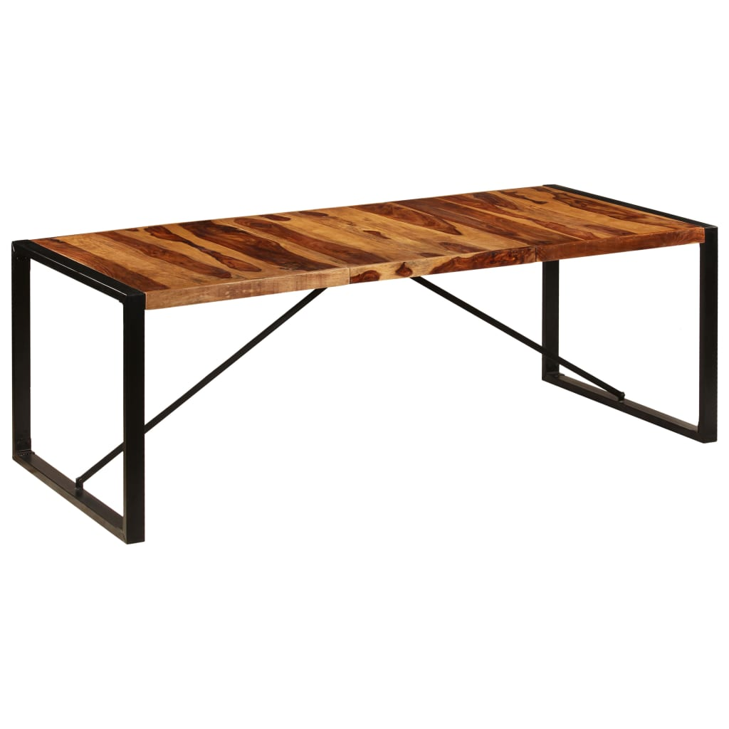 Dining Table 220x100x75 cm Solid Sheesham Wood 7