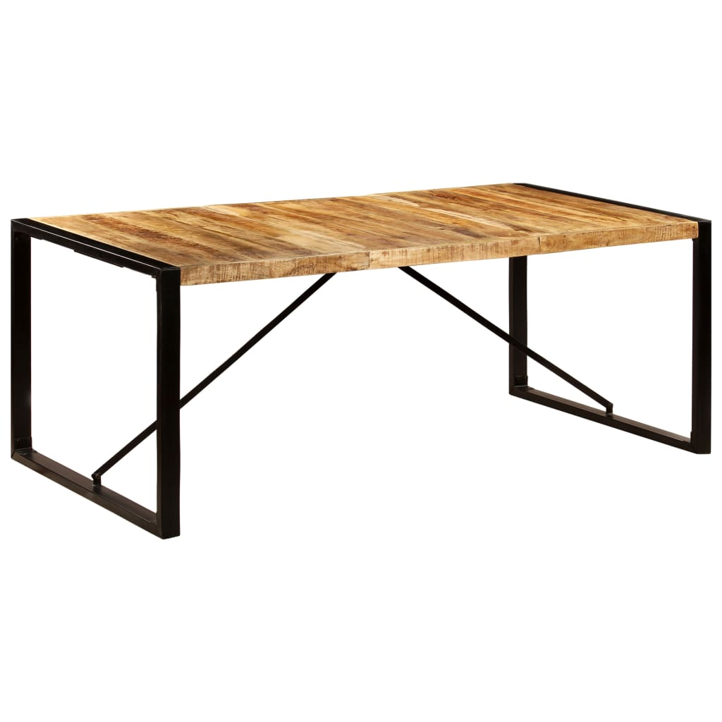 Dining Table 200x100x75 cm Solid Mango Wood 11