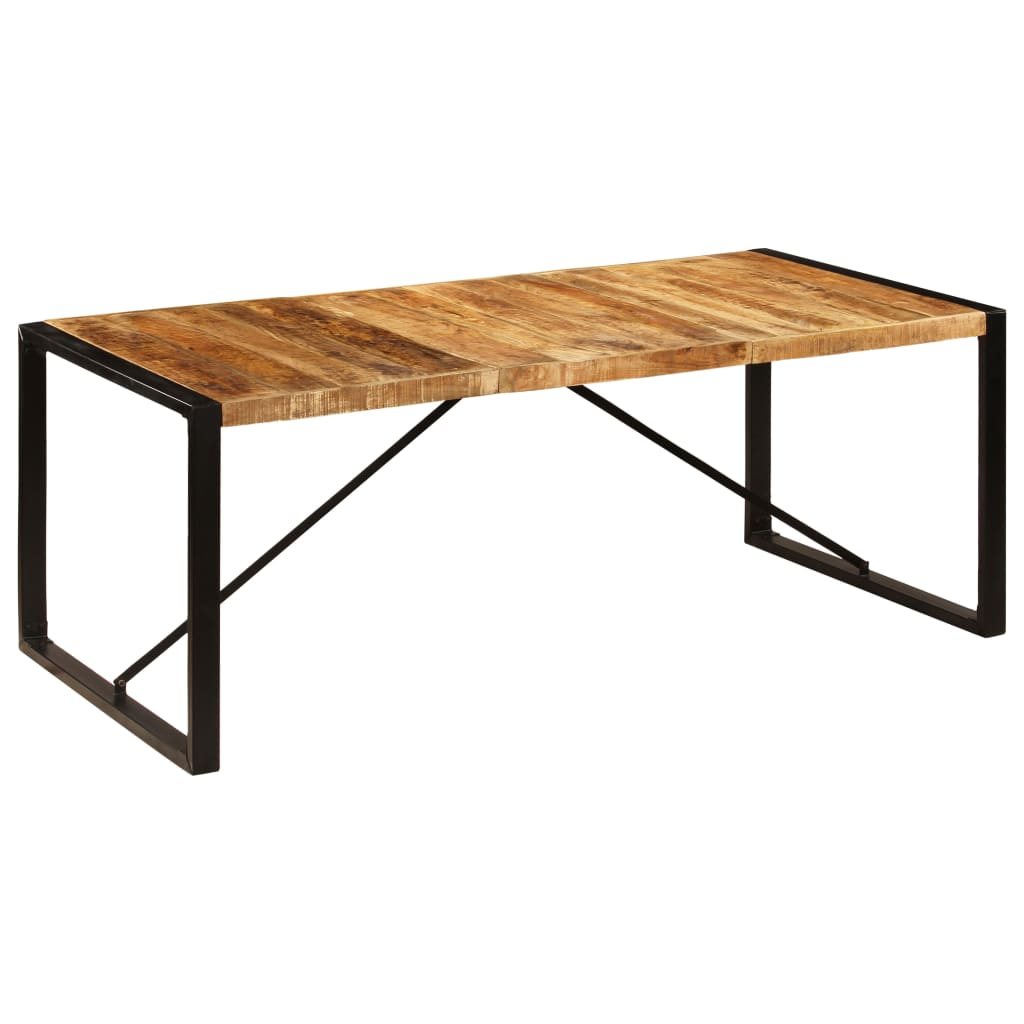 Dining Table 200x100x75 cm Solid Mango Wood 7
