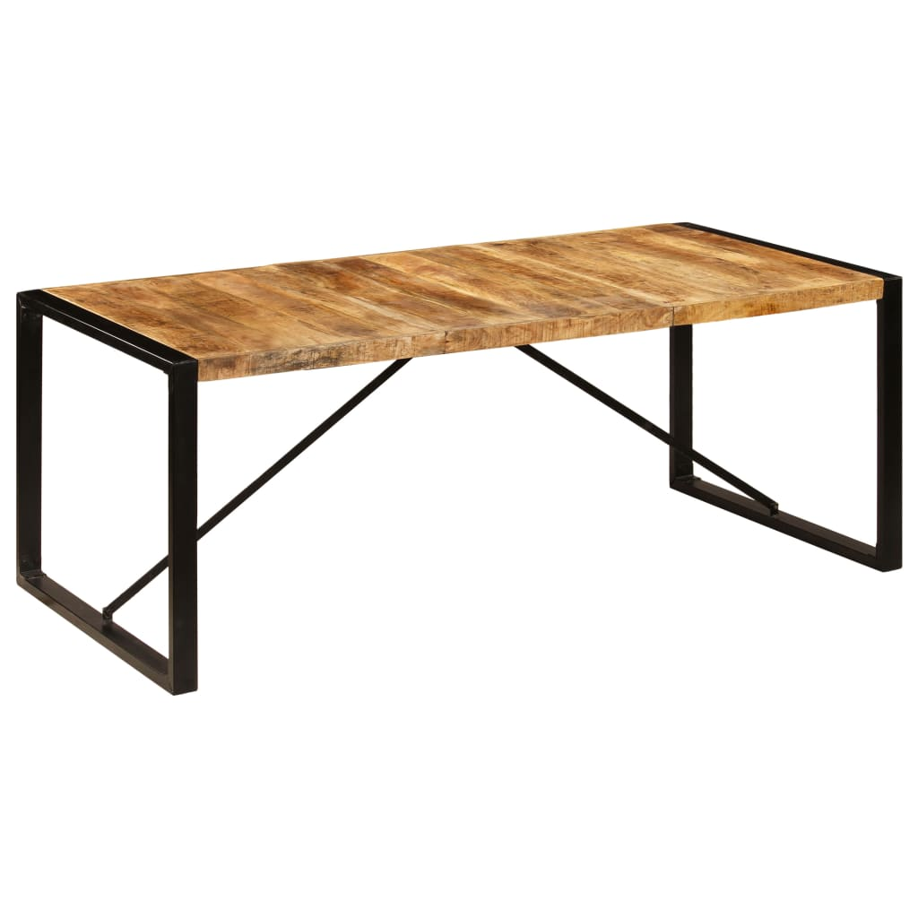 Dining Table 200x100x75 cm Solid Mango Wood 9