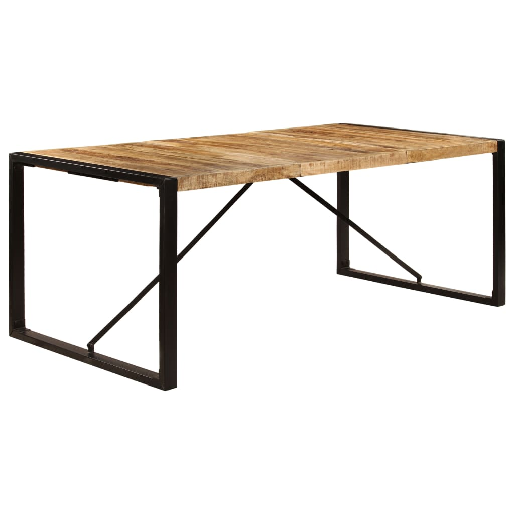 Dining Table 200x100x75 cm Solid Mango Wood 10