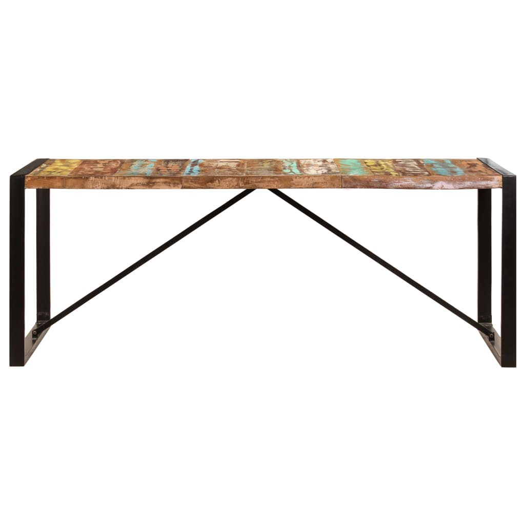 Dining Table 200x100x75 cm Solid Reclaimed Wood 3