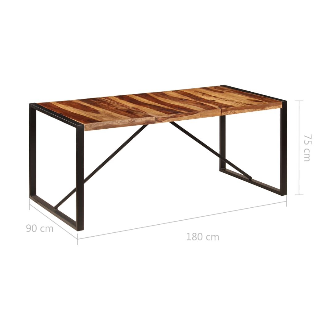 Dining Table 180x90x75 cm Solid Sheesham Wood 6