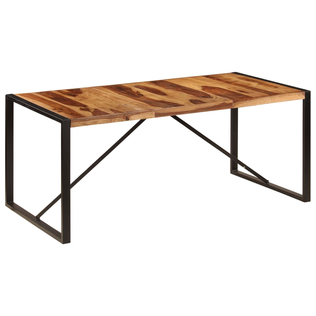 Dining Table 180x90x75 cm Solid Sheesham Wood 7
