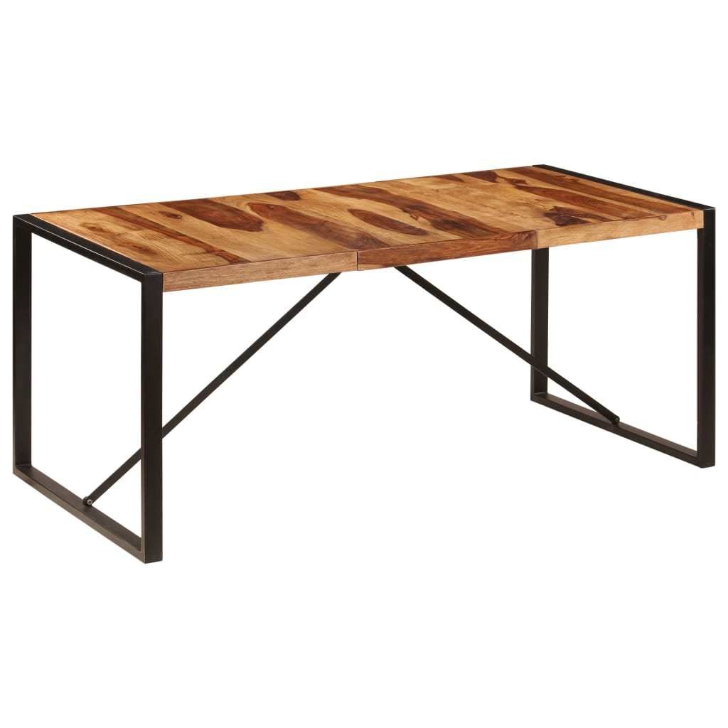 Dining Table 180x90x75 cm Solid Sheesham Wood 8