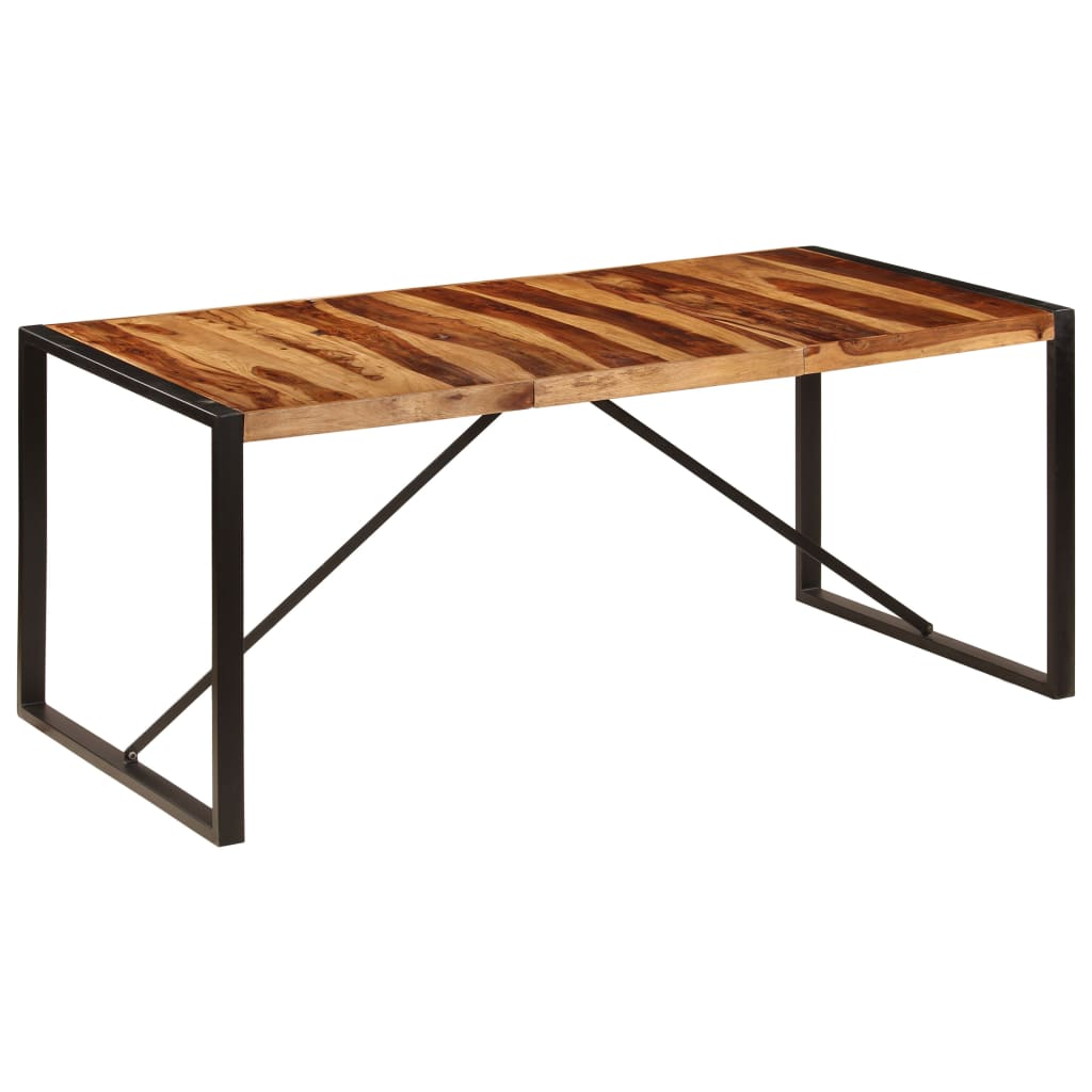 Dining Table 180x90x75 cm Solid Sheesham Wood 9