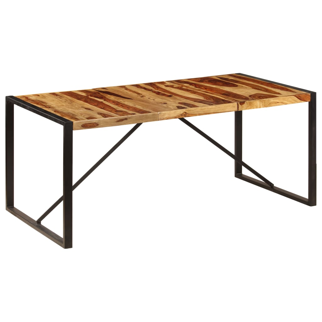 Dining Table 180x90x75 cm Solid Sheesham Wood 10