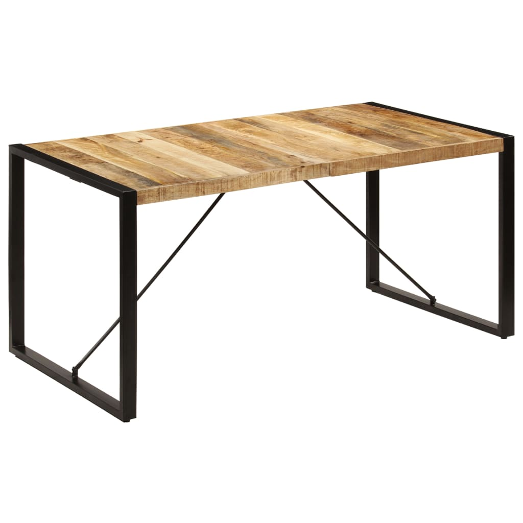 Dining Table 160x80x75 cm Solid Mango Wood