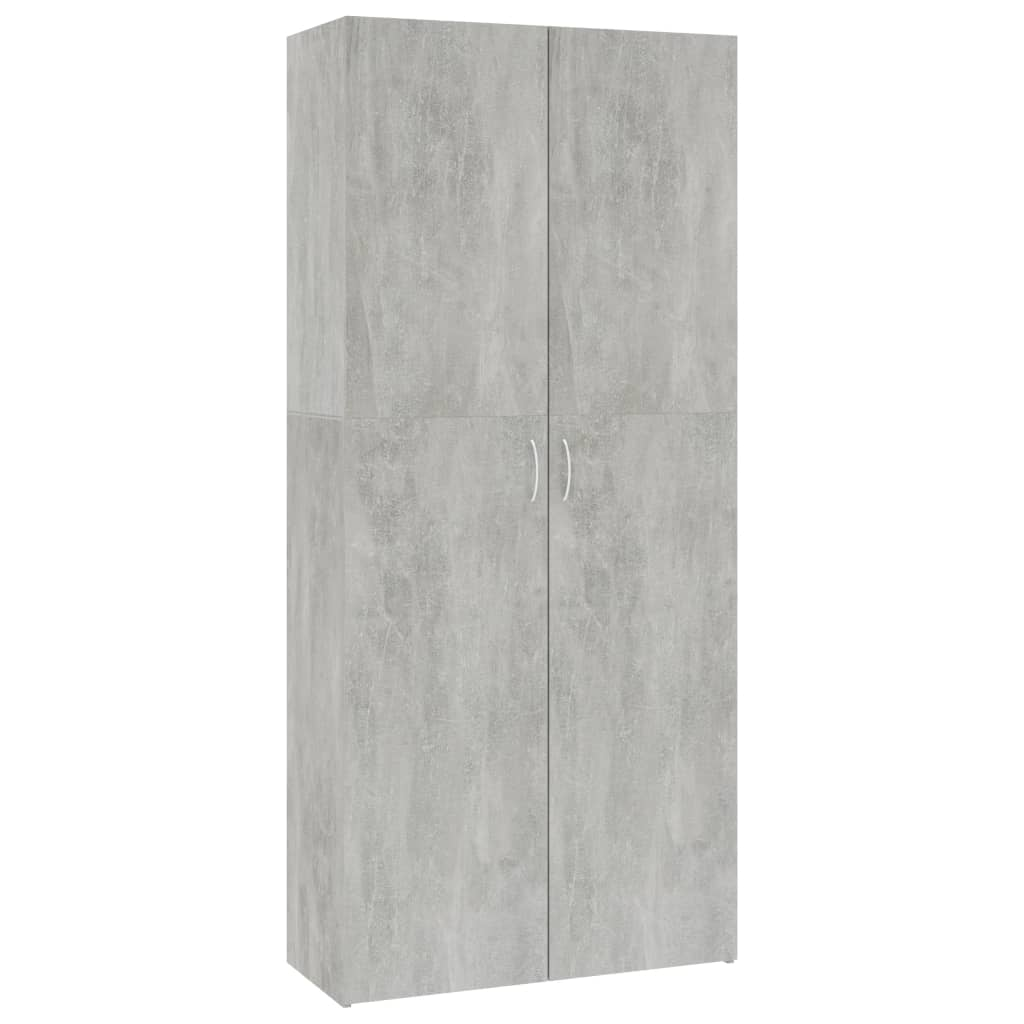 Storage Cabinet Concrete Grey 80×35