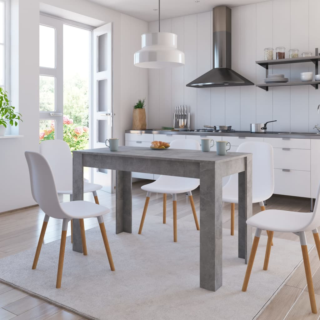 Dining Table Concrete Grey 120x60x76 cm Chipboard