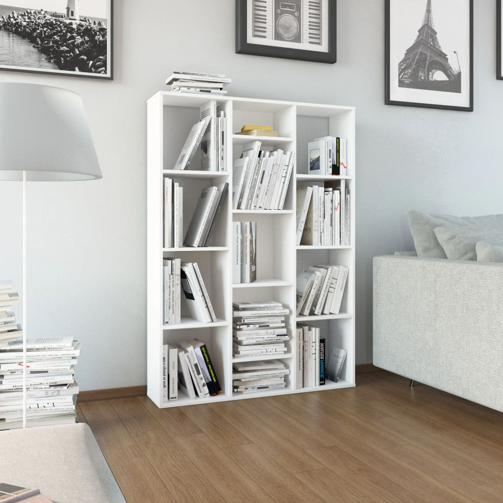 Room Divider/Book Cabinet White 100x24x140 cm Chipboard