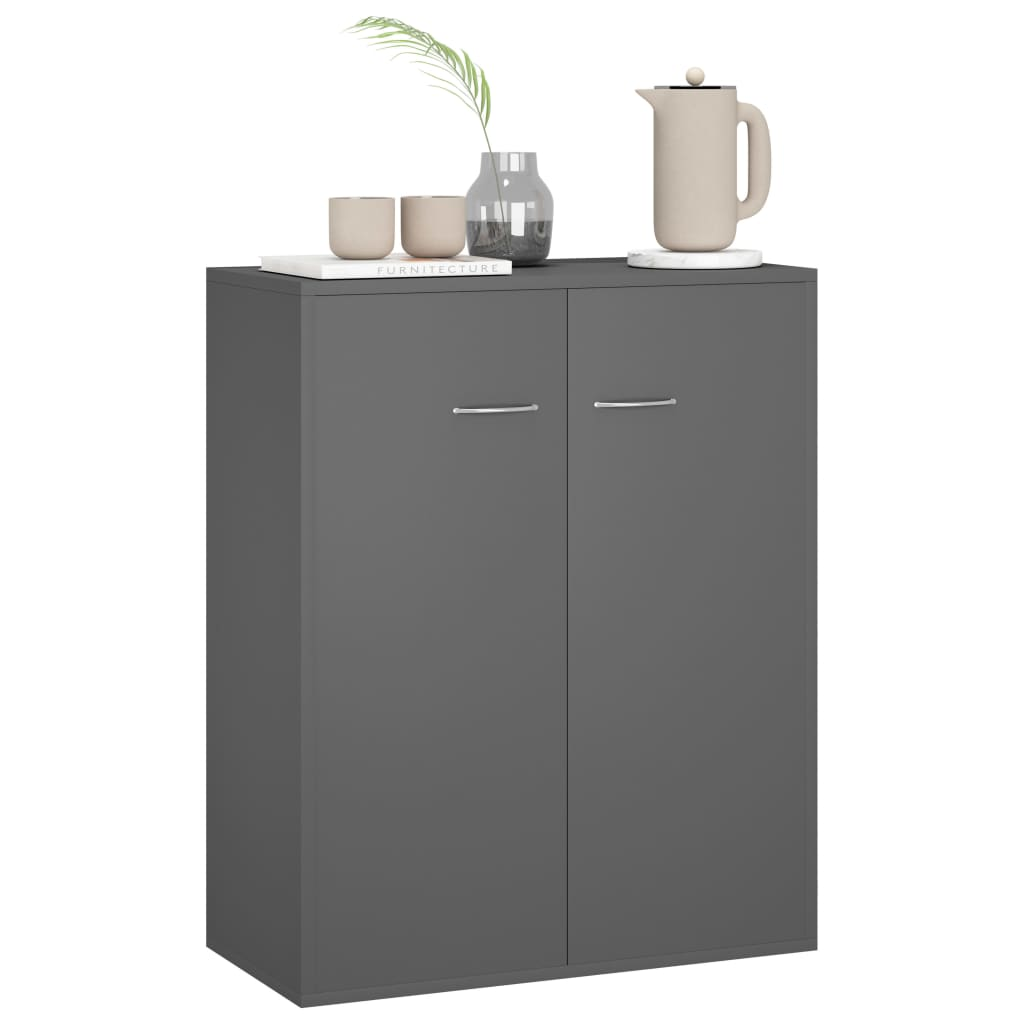 Sideboard Grey 60x30x75 cm Chipboard 3