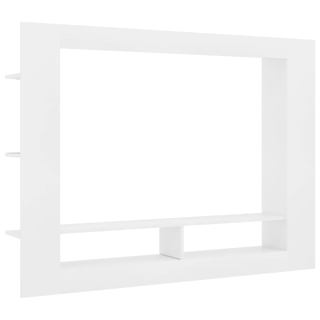TV Cabinet White 152x22x113 cm Chipboard 2