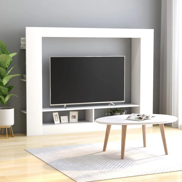 TV Cabinet White 152x22x113 cm Chipboard 1