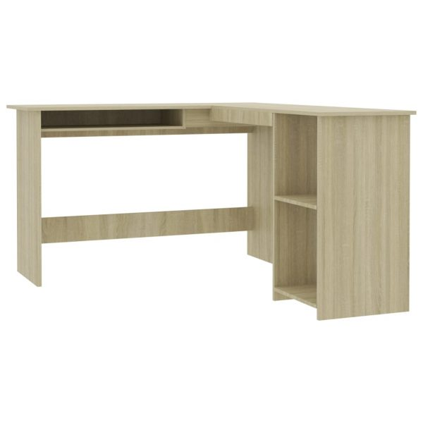 L-Shaped Corner Desk Sonoma Oak 120x140x75 cm Chipboard 2