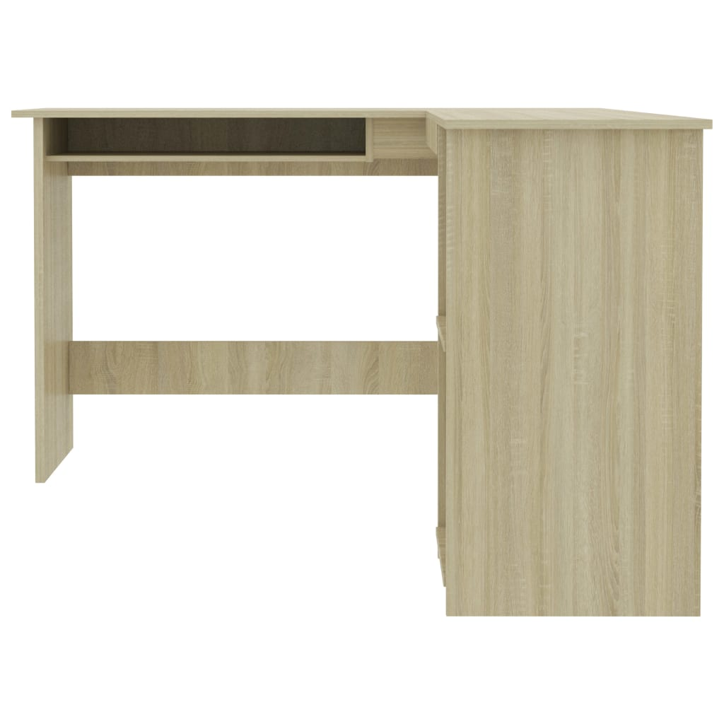 L-Shaped Corner Desk Sonoma Oak 120x140x75 cm Chipboard 4