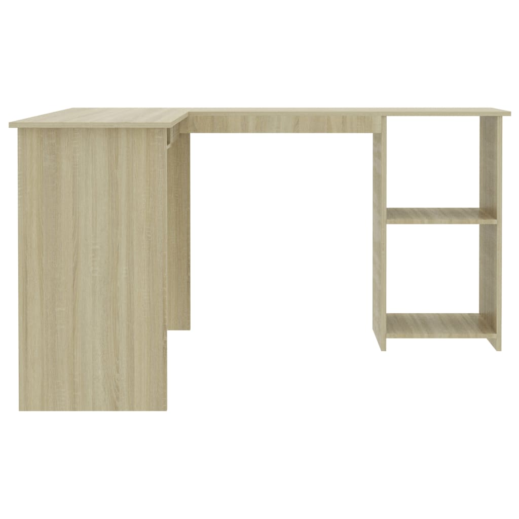 L-Shaped Corner Desk Sonoma Oak 120x140x75 cm Chipboard 5