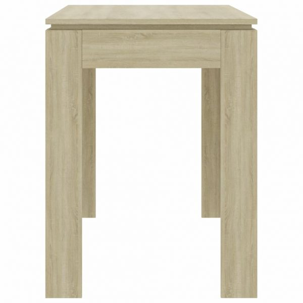 Dining Table Sonoma Oak 120x60x76 cm Chipboard 5