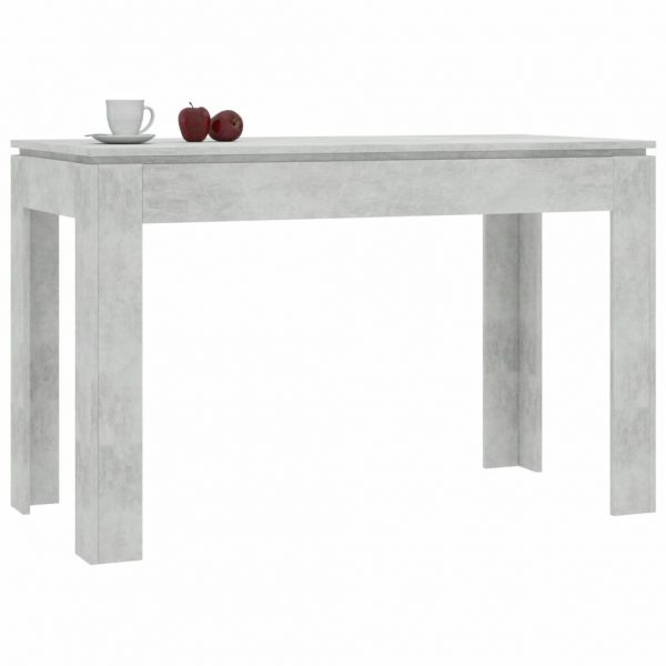 Dining Table Concrete Grey 120x60x76 cm Chipboard 3