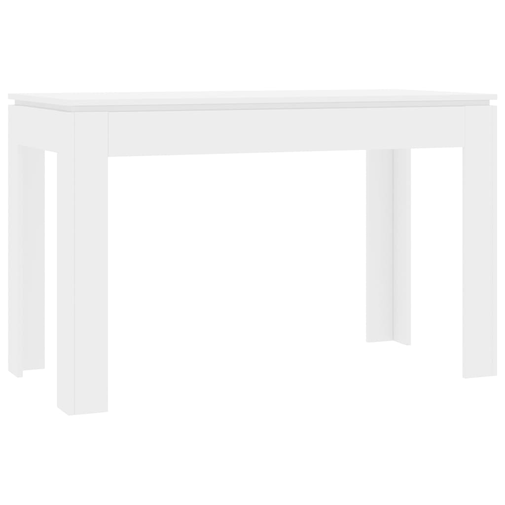 Dining Table High Gloss White 120x60x76 cm Chipboard 2