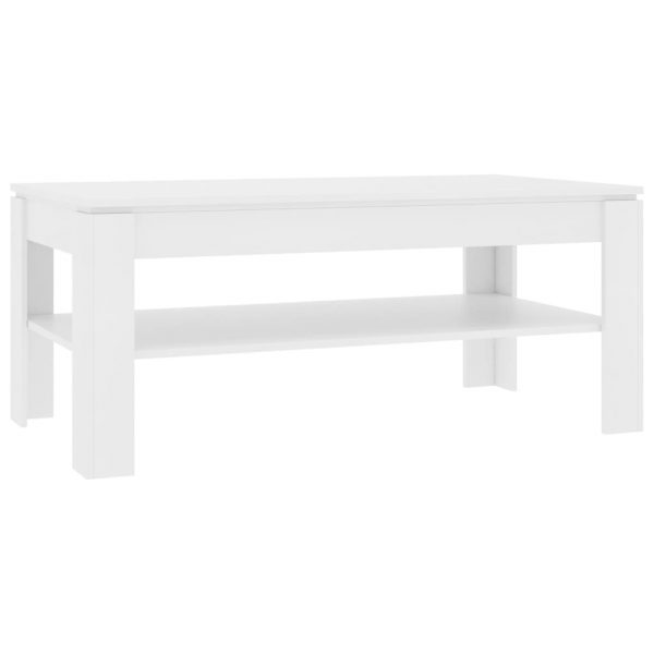 Coffee Table White 110x60x47 cm Chipboard 2