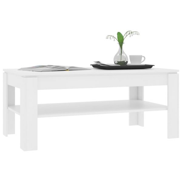 Coffee Table White 110x60x47 cm Chipboard 3