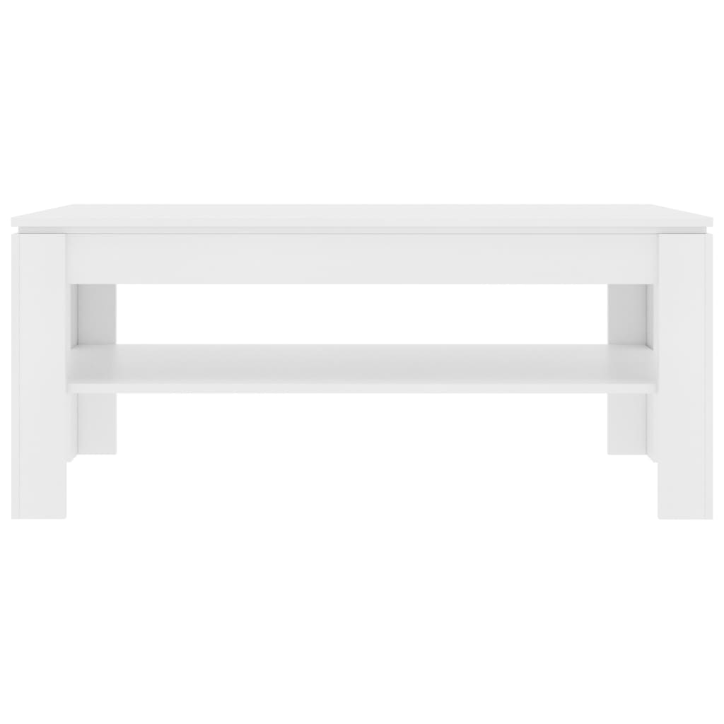 Coffee Table White 110x60x47 cm Chipboard 4