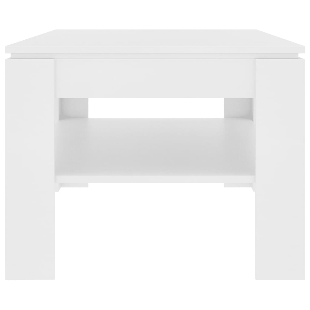 Coffee Table White 110x60x47 cm Chipboard 5