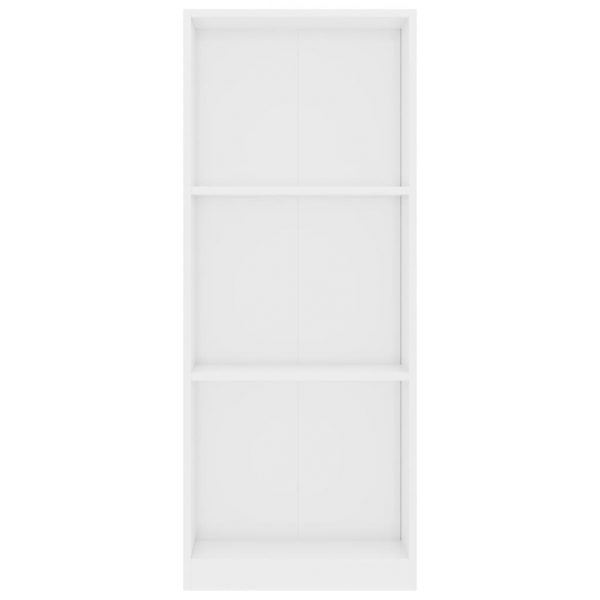 3-Tier Book Cabinet High Gloss White 40x24x108 cm Chipboard 4