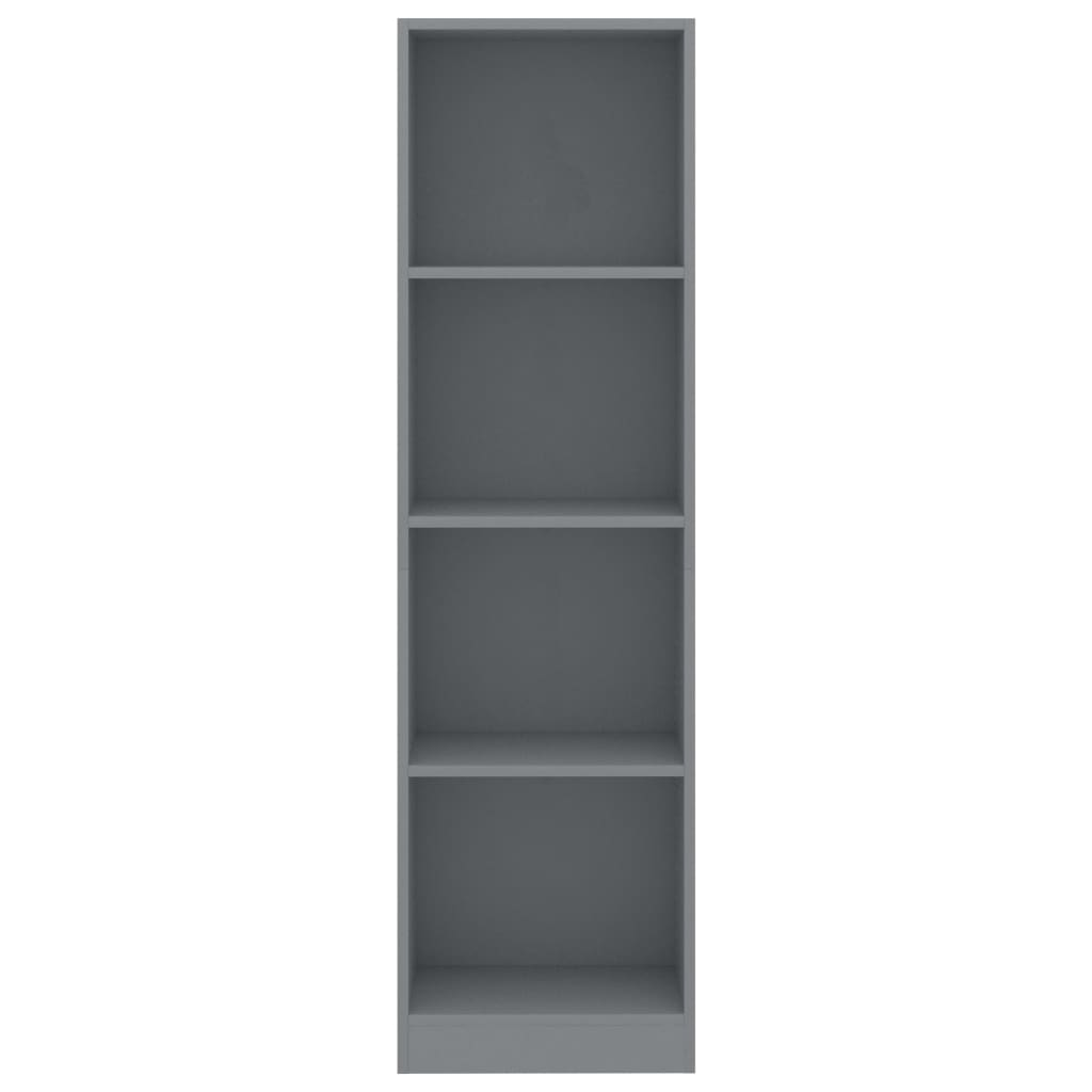 4-Tier Book Cabinet Grey 40x24x142 cm Chipboard 4