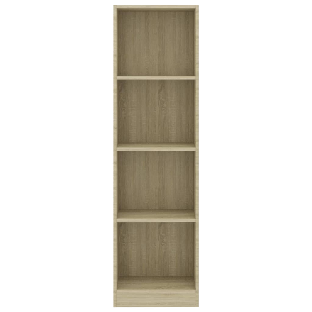 4-Tier Book Cabinet Sonoma Oak 40x24x142 cm Chipboard 4