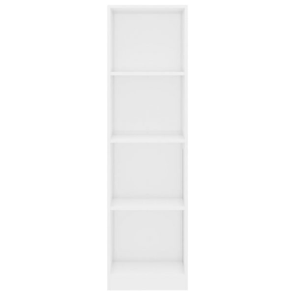 4-Tier Book Cabinet High Gloss White 40x24x142 cm Chipboard 4