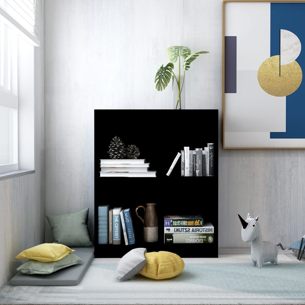 Bookshelf Black 60x24x74.5 cm Chipboard