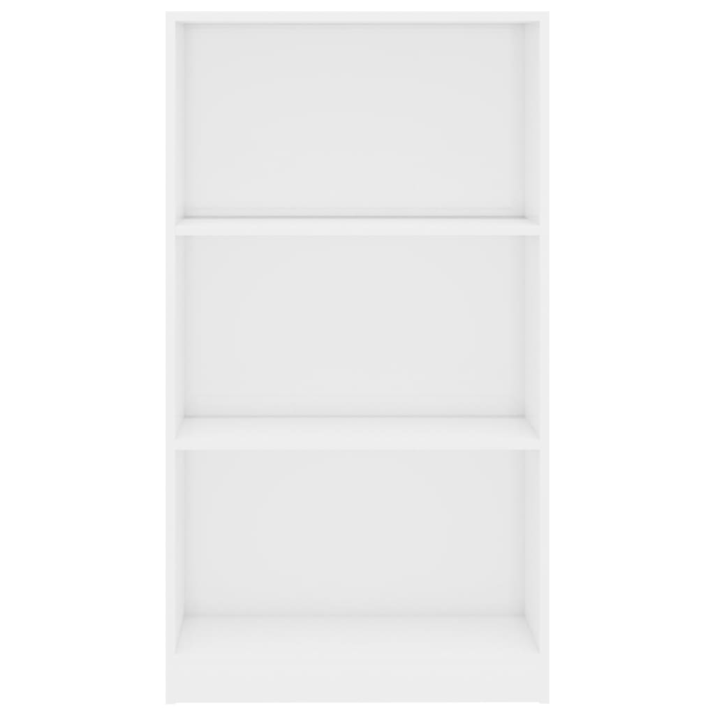 3-Tier Book Cabinet High Gloss White 60x24x108 cm Chipboard 4