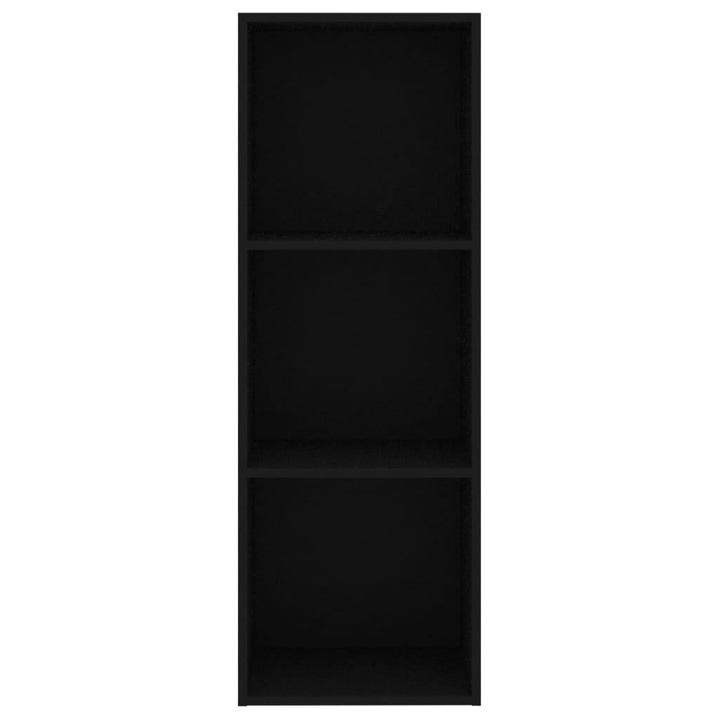 3-Tier Book Cabinet Black 40x30x114 cm Chipboard 4