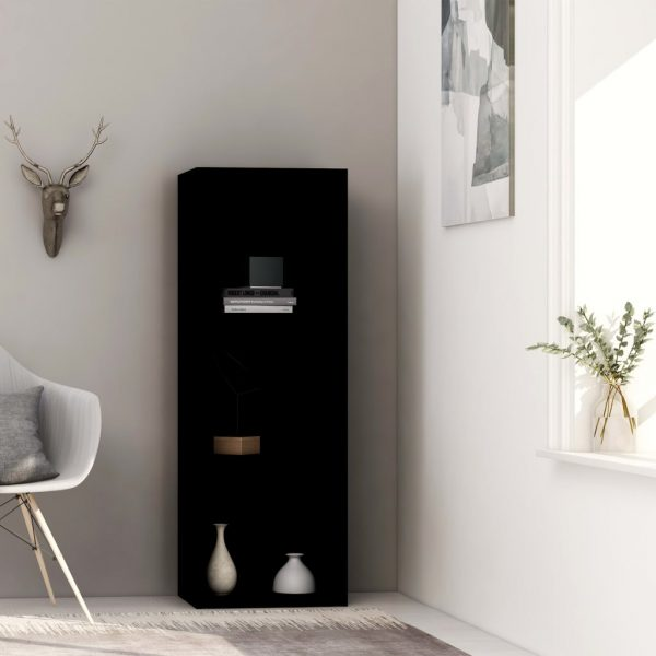 3-Tier Book Cabinet Black 40x30x114 cm Chipboard 1