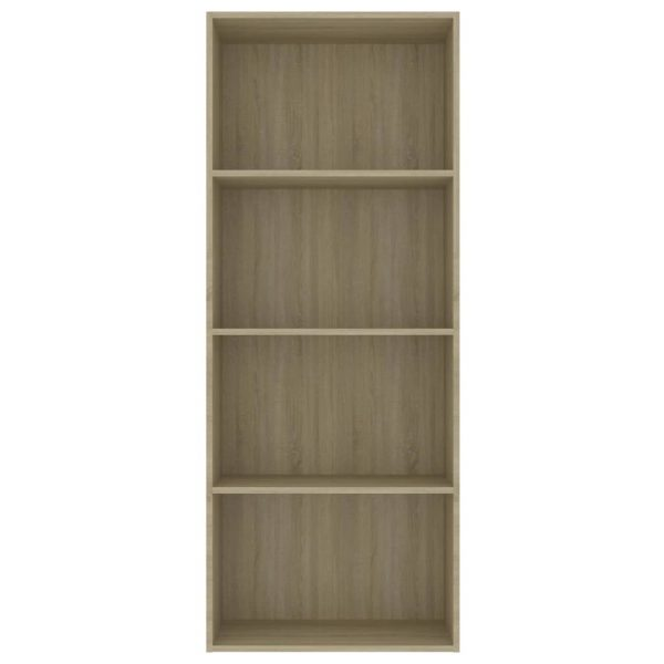 4-Tier Book Cabinet Sonoma Oak 60x30x151