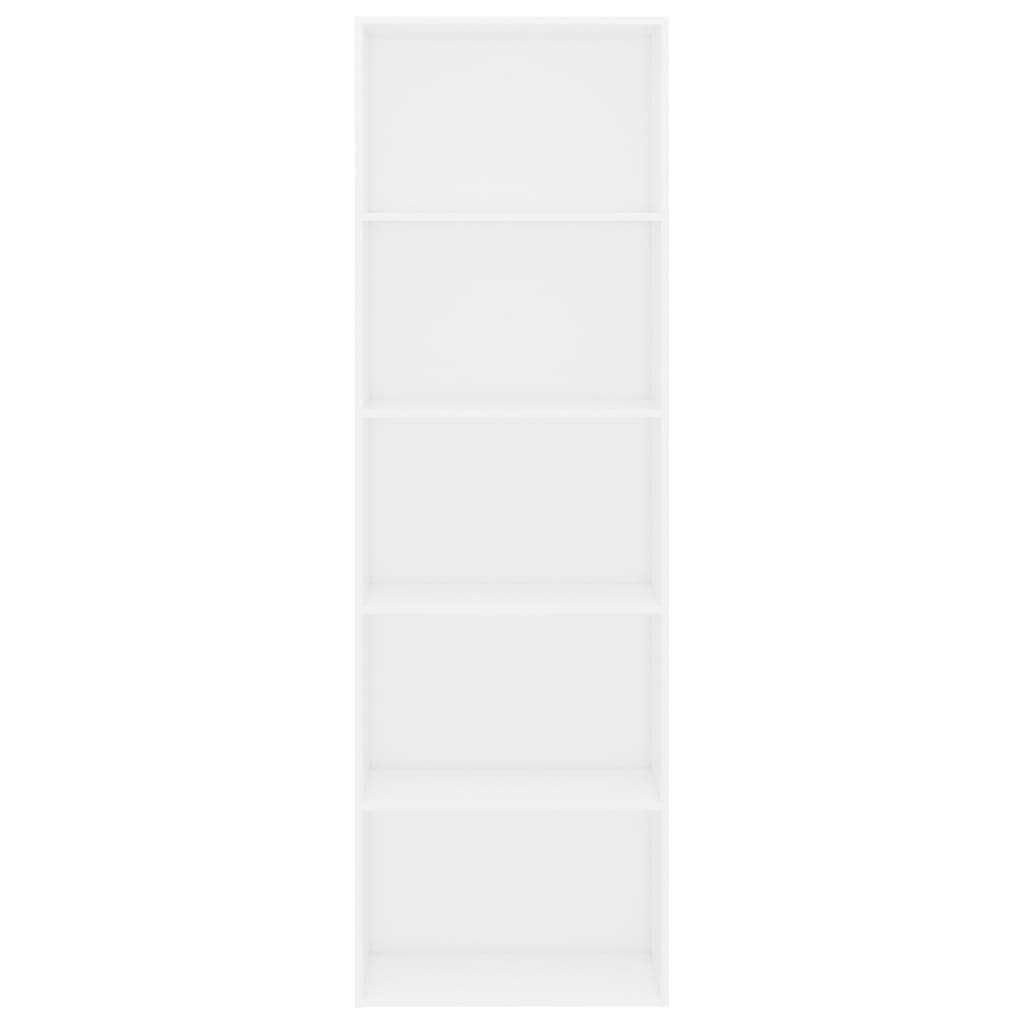 5-Tier Book Cabinet White 60x30x189 cm Chipboard 4