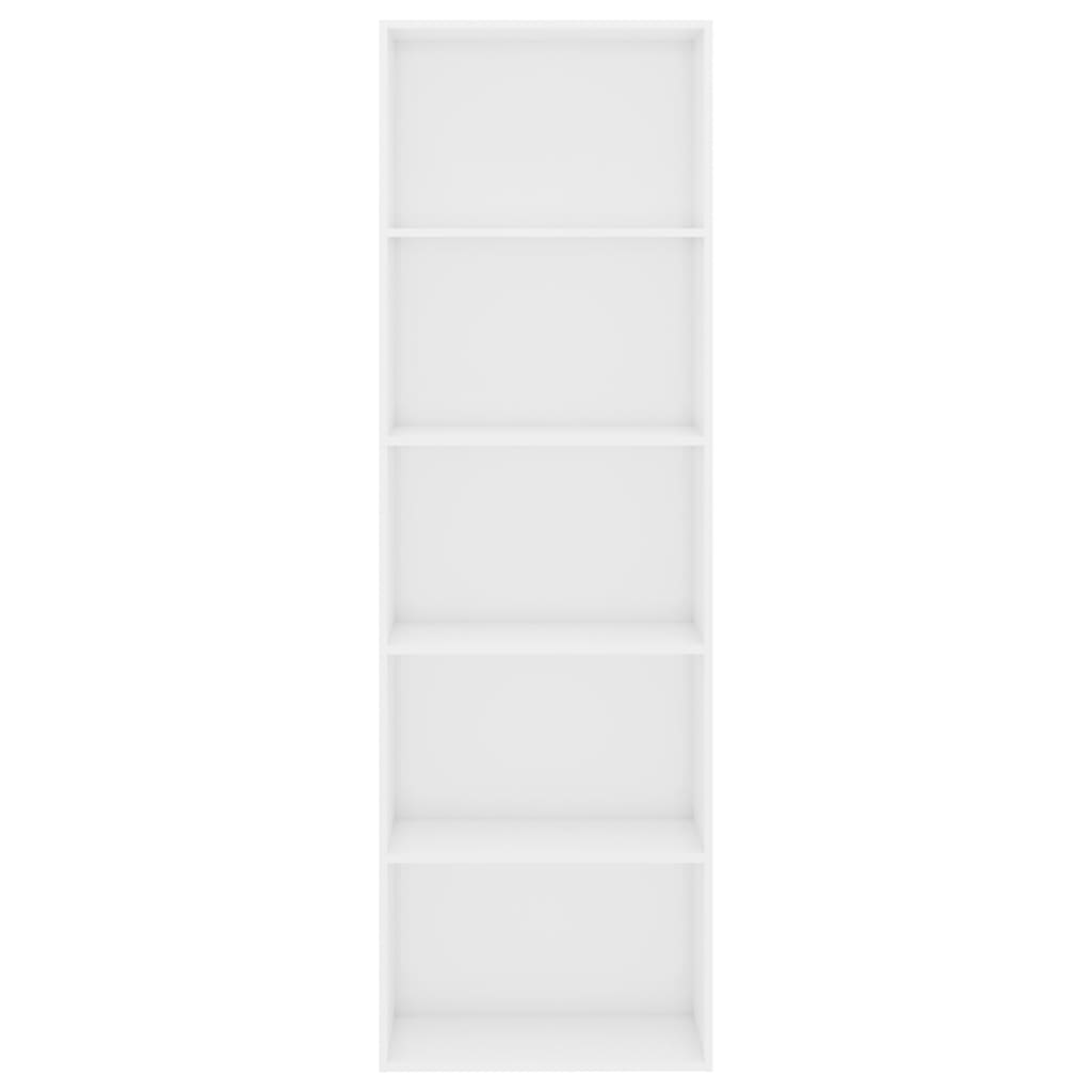5-Tier Book Cabinet High Gloss White 60x30x189 cm Chipboard 4